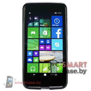 Чехол накладка для Nokia Lumia 630 S-shape (черная)