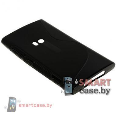 Чехол накладка для Nokia Lumia 920 S-shape (черная)