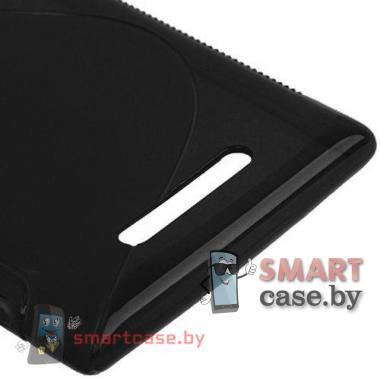 Чехол накладка для Nokia Lumia 925 S-shape (черный)
