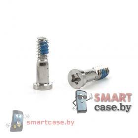 Винты (болты) для iPhone 5/5S/SE нижние серебро (2шт) OEM