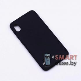 Силиконовый чехол для Samsung Galaxy A10 (Черный матовый)