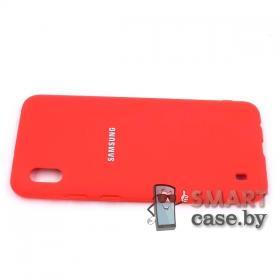Силиконовый матовый чехол для Samsung Galaxy A10 (Красный)