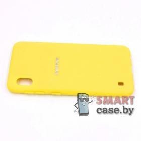 Силиконовый матовый чехол для Samsung Galaxy A10 (Жёлтый)