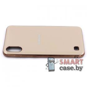 Силиконовый чехол Glass Case для Samsung Galaxy A10 (Серый мрамор)