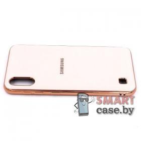 Силиконовый чехол Glass Case для Samsung Galaxy A10 (Нежно-розовый)