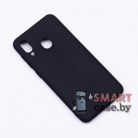 Силиконовый чехол для Samsung Galaxy A40 (черный матовый)