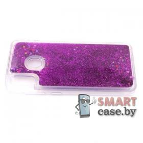 Силиконовый чехол для Samsung Galaxy A30/A20 (розовые блёстки)