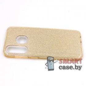 Силиконовый чехол для Samsung Galaxy A30 3в1 (Золотой)