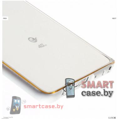 Алюминиевый бампер для Samsung Galaxy A5 (металик с золотом)
