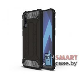 Противоударный чехол ARMOR для Samsung Galaxy A50 силикон+пластик (чёрный)