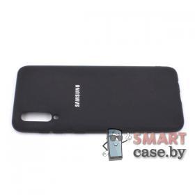Силиконовый бампер для Samsung Galaxy A50 (чёрный матовый)