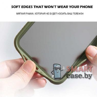 Силиконовый матовый противоударный чехол для Samsung Galaxy A51 (Зелёный)