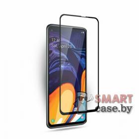 Защитное стекло для Samsung Galaxy A70 полная проклейка 9H, 9D (чёрное)