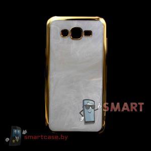 Чехол для Samsung Galaxy Grand Prime (G530) (Белый камень)