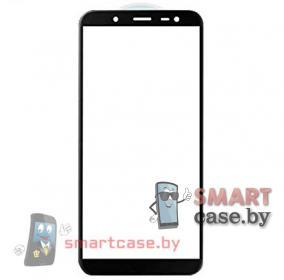Защитное стекло для Samsung Galaxy J6 2018 (j600f) полная проклейка (черное)