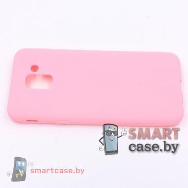 Чехол для Samsung Galaxy J6 2018 силиконовый (розовый)