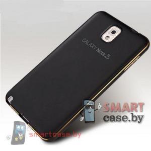 Бампер для Samsung Galaxy Note 3 алюминиевый (черный с золотом)