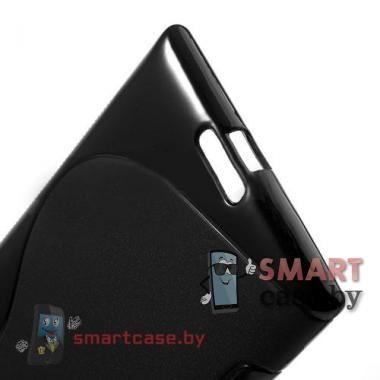 Силиконовый чехол для Nokia Lumia 1520 S-line (черный)