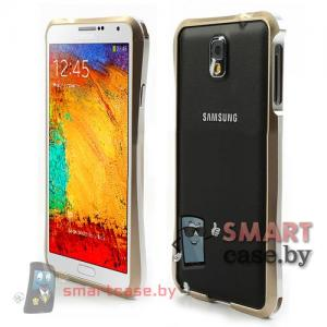 Бампер для Samsung Galaxy Note 3 алюминиевый Love Mei (серебро)