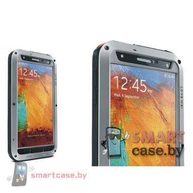Экстремальный чехол для Samsung Galaxy Note 3 алюминиевый Love Mei (металлик)