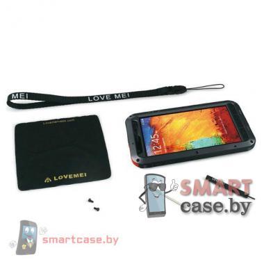 Экстремальный чехол для Samsung Galaxy Note 3 алюминиевый Love Mei (черный с белым)