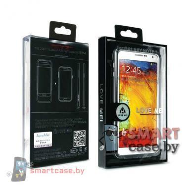 Ультратонкий алюминиевый бампер для Samsung Galaxy Note 3 Love Mei (черный)