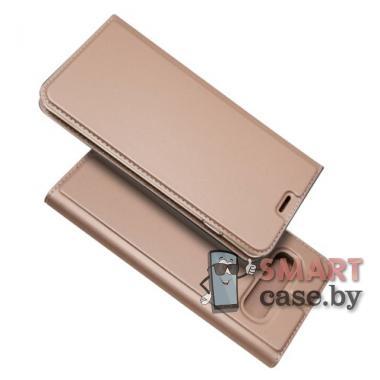 Антимаркий чехол-книжка для Samsung Galaxy S10 PU-кожа (розовое золото)