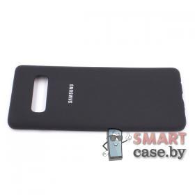Силиконовый чехол для Samsung Galaxy S10 Plus (Чёрный)