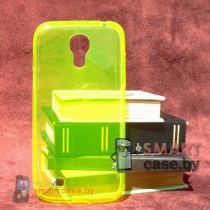 Ультратонкий чехол для Samsung Galaxy S4 mini силиконовый 0,5 мм (лимон)