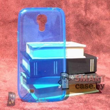 Ультратонкий чехол для Samsung Galaxy S4 mini силиконовый 0,5 мм (голубой)