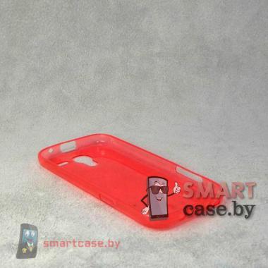 Ультратонкий чехол для Samsung Galaxy S4 mini силиконовый 0,5 мм (красный)