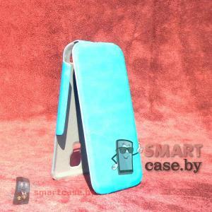 Ультратонкий чехол для Samsung Galaxy S4 mini Slim Case (лазурный)