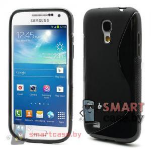 Силиконовый чехол для Samsung Galaxy S4 mini S-Shape (Черный)