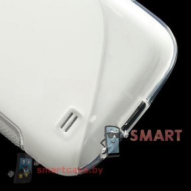 Силиконовый чехол для Samsung Galaxy S4 mini S-Shape (Прозрачный)