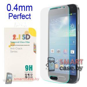 Стекло для Samsung Galaxy S4 mini 9Н, 0,4мм, 2,15D