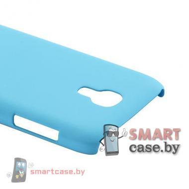 Чехол для Samsung Galaxy S4 mini пластиковый Софт Тач (Легкий голубой)