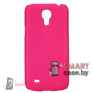 Чехол для Samsung Galaxy S4 mini пластиковый Софт Тач (Горячий розовый)