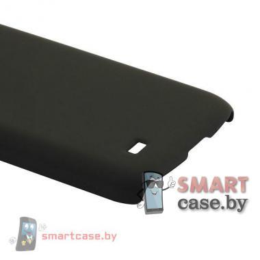 Чехол для Samsung Galaxy S4 mini пластиковый Софт Тач (Черный)