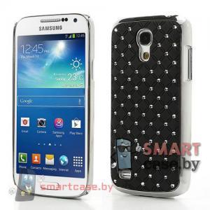 Чехол для Samsung Galaxy S4 mini со стразами (Черный)