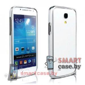 Бампер для Samsung Galaxy S4 mini ультратонкий Love Mei (серебро)