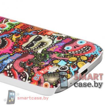 Чехол для Samsung Galaxy S4 mini пластиковый (монстры)