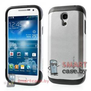 Чехол для Samsung Galaxy S4 mini гибридный Slim Armor  (Металлик-черный)