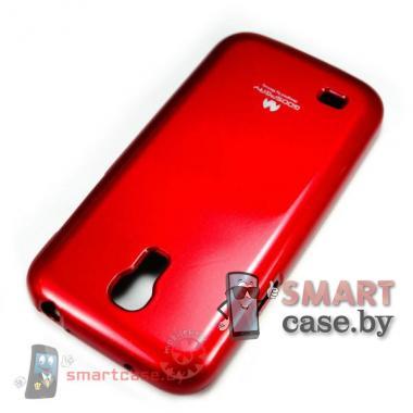 Чехол для Samsung Galaxy S4 mini силиконовый Mercury (бордовый глянец)