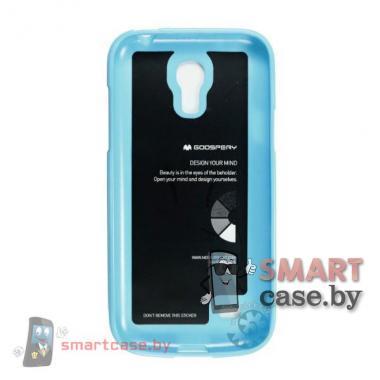 Чехол для Samsung Galaxy S4 mini силиконовый Mercury (небесно голубой)