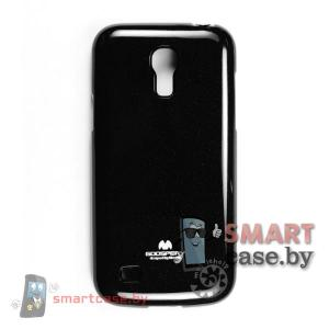 Чехол для Samsung Galaxy S4 mini силиконовый Mercury (черный глянец)