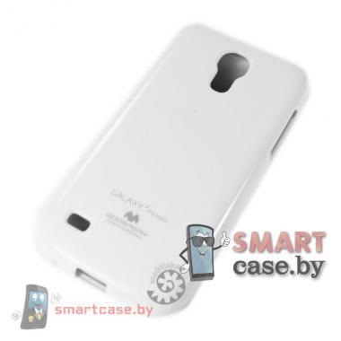 Чехол для Samsung Galaxy S4 mini силиконовый Mercury (белый глянец)