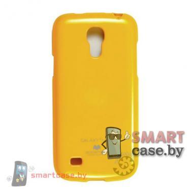 Чехол для Samsung Galaxy S4 mini силиконовый Mercury (ярко желтый глянец)