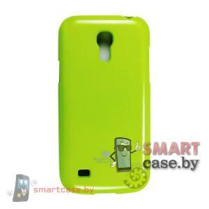Чехол для Samsung Galaxy S4 mini силиконовый Mercury (салатовый глянец)