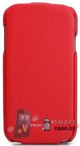 Чехол-книжка кожаный NUOKU Royal для Samsung Galaxy S4 + пленка (красный)