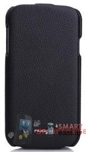 Чехол-книжка кожаный NUOKU Royal для Samsung Galaxy S4 + пленка (черный)